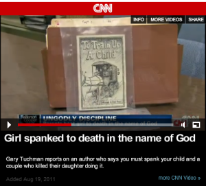 """And also important, a book was found inside, a book that appeared to light the fuse to the deadly brutality. The book is called """"To Train Up a Child."""""""